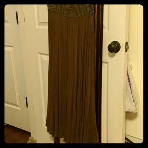 Lapis long skirt